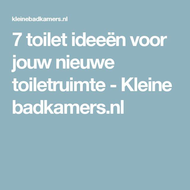 7 toilet ideeën voor jouw nieuwe toiletruimte - Kleine badkamers.nl