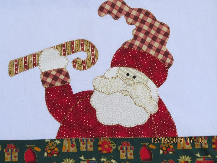 Pano De Prato Natal Papai noel | Arti In Panno | Elo7