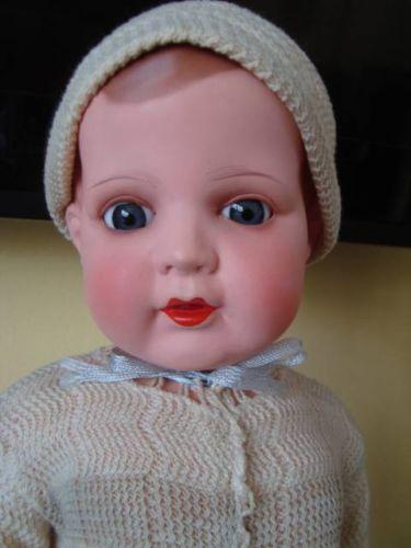 Rare-17-Antique-Celluloid-Boy-Doll-Poland-POLISH-P-R-Zask-ASK-Character-Baby