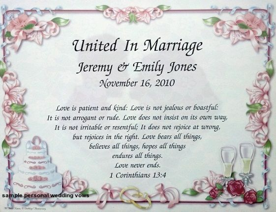 Wedding Vow Renewal Invitation Wording Samples: 17 Best Ideas About Personal Wedding Vows On Pinterest
