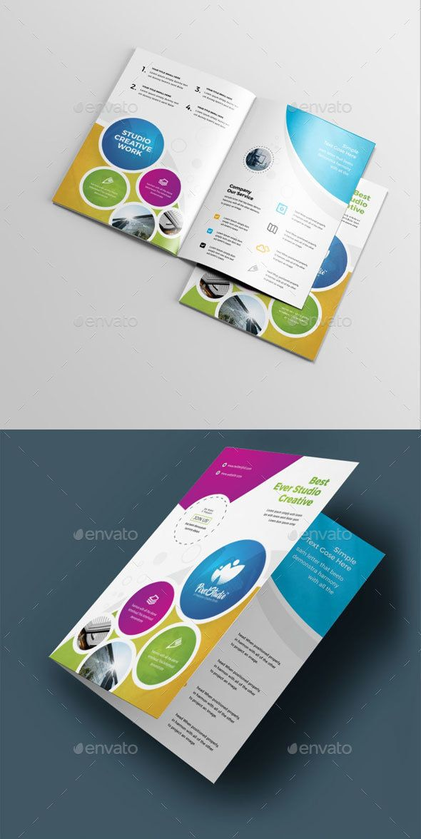 corporate bi fold brochure brochure templates pinterest