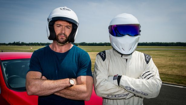Wolverine and the Stig -- how cool / hot is this???? Behind the scenes on Top Gear - BBC Top Gear