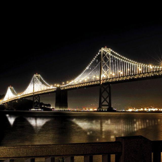Bay Lights  http://laughingsquid.com/the-bay-lights-bridge-art-installation-nears-grand-lighting-ceremony/#