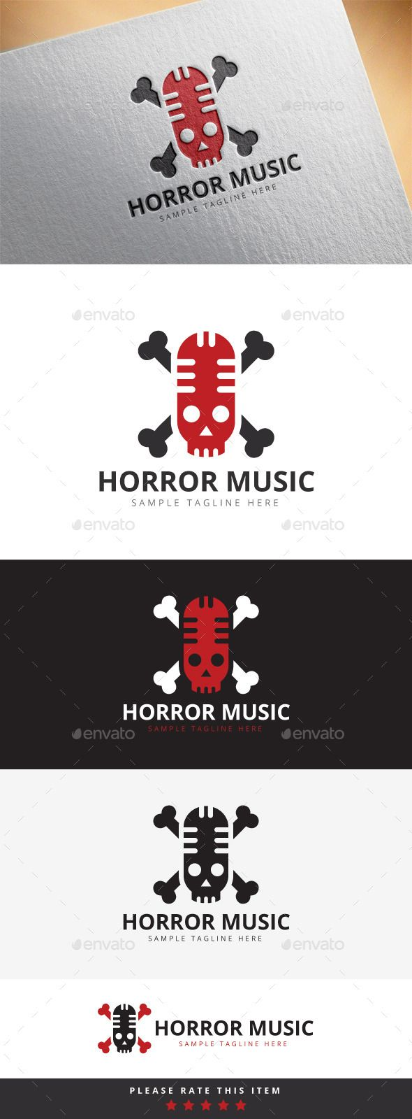 Horror Music Logo — Vector EPS #company #corporate • Available here → https://graphicriver.net/item/horror-music-logo/10192418?ref=pxcr