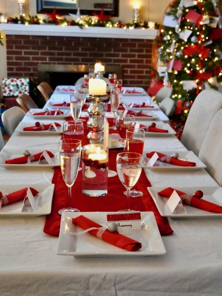 1147 best christmas table decorations images on pinterest Best table decoration ideas