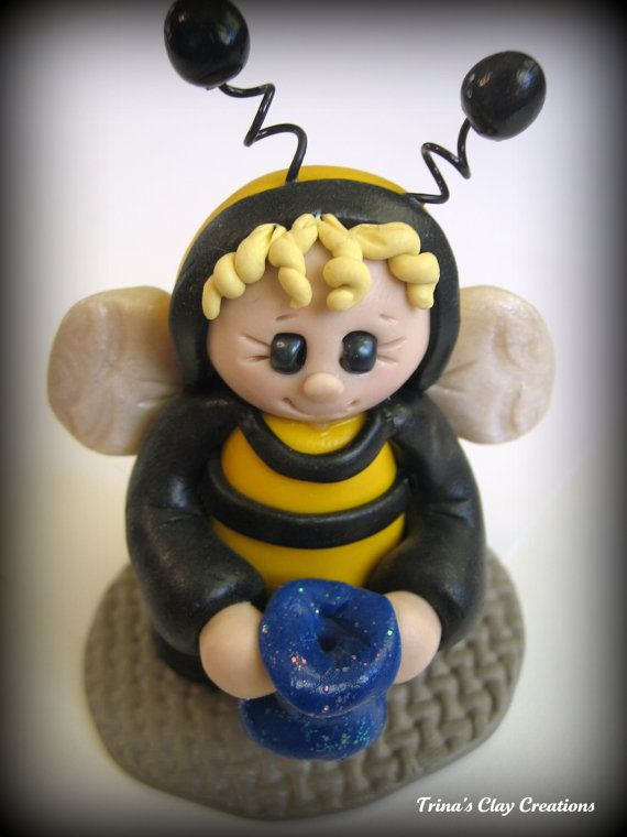 Hollween Bumble Bee by Trina's Clay Creations (Trina Prenzi) polymer clay