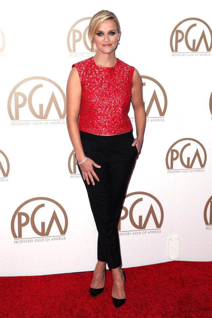 Pin for Later: The Stars Steal the Spotlight at the Producers Guild Awards Reese Witherspoon Seems like Reese is the latest lady to rock pants at an award show. We love that she took a risk and went with something unexpected.