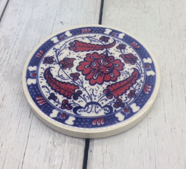 TURKISH CERAMIC COASTER, 0026