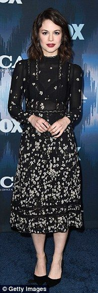 Timeless:Conor Leslie,Leighton Meester, andEmily Deschanel kept things classy in their all-black looks