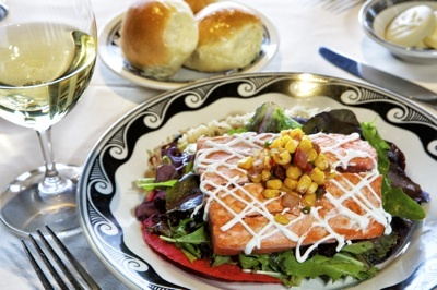 Pan-Seared Salmon Tostada From El Tovar Hotel In Grand Canyon National Park | National Parks Traveler