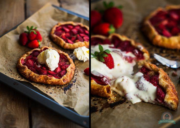 Mini Erdbeer Galettes #ichbacksmir #strawberry #erdbeeren