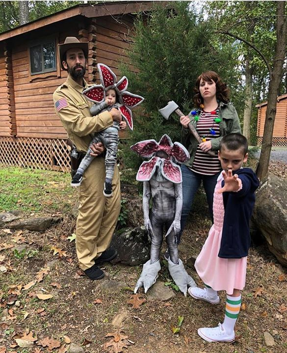 Stranger Things Jim Hopper Demogorgon Joyce Byers And Eleven Cosplay By Lacy Thomas And Her Stranger Things Costume Stranger Things Stranger Things Halloween