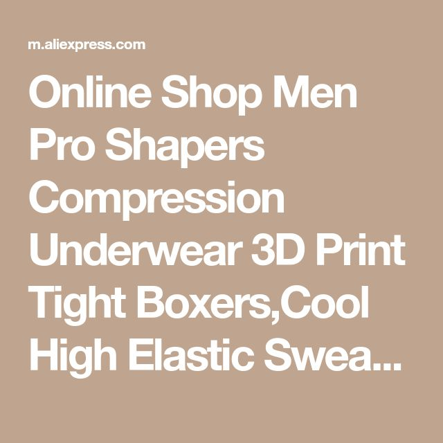 Online Shop Men Pro Shapers Compression Underwear 3D Print Tight Boxers,Cool High Elastic Sweat Quick-dry Wicking Sport Fitness Shorts 4005 | Aliexpress Mobile