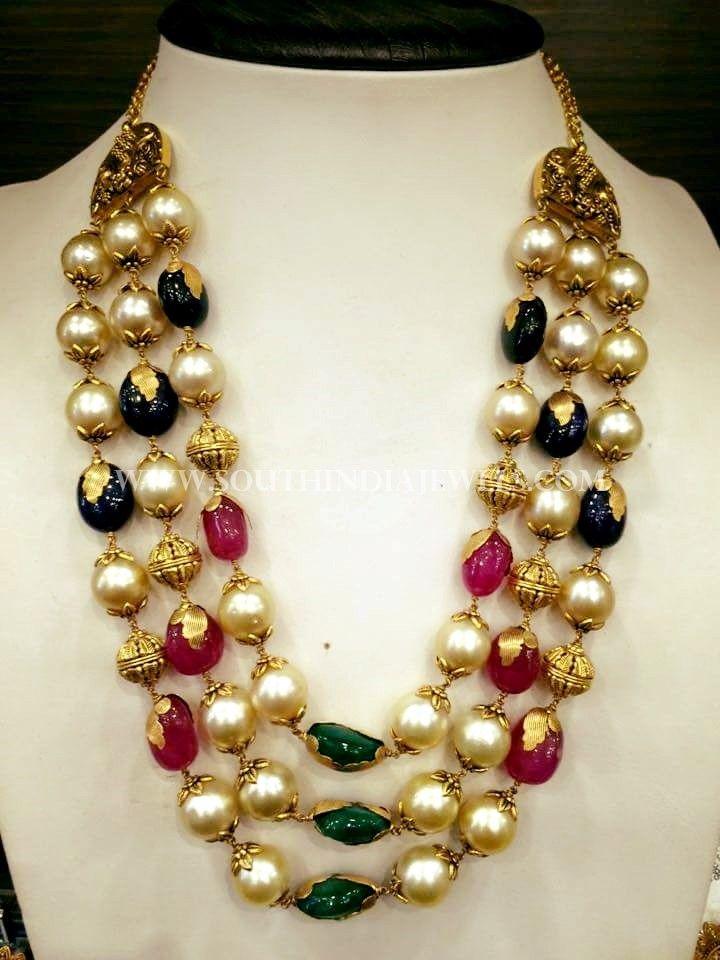 Latest Gold Pearl Haram Design