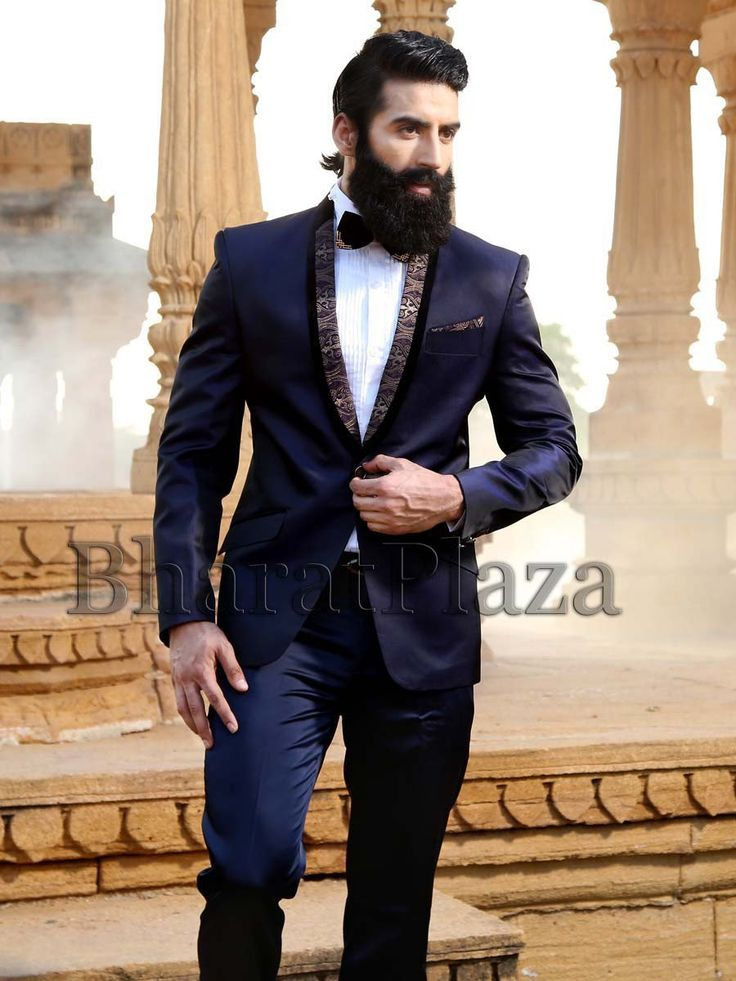 Exquisite navy blue color shawl lapel tuxedo planed on # ...