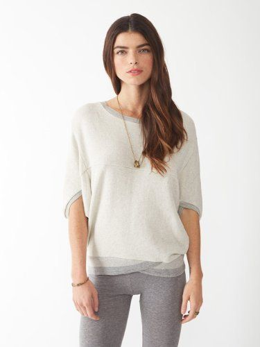 Pico Fleece Top by Alternative Apparel: an inventive but utterly casual top...I wish I could quit you!