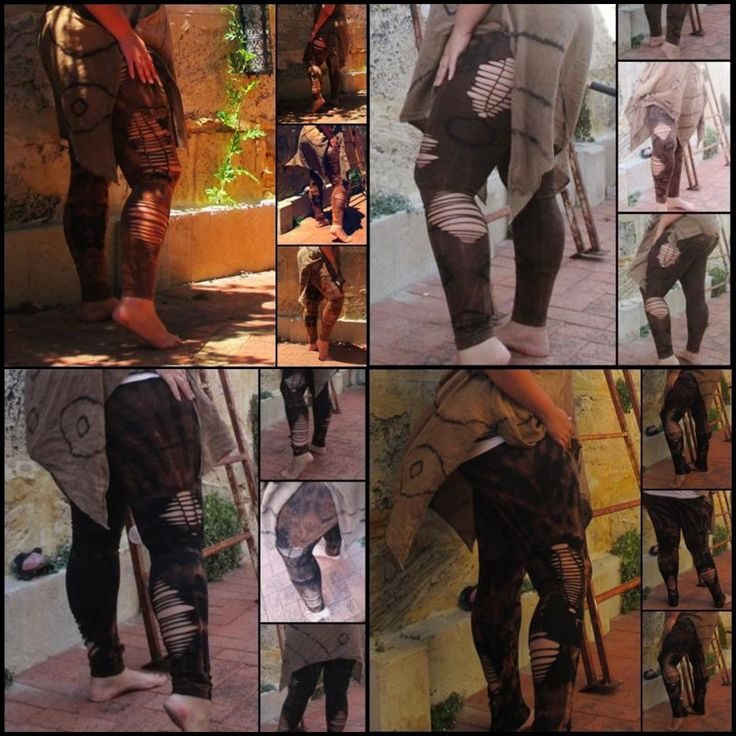 Tie dye Braided Leggings, Plus Size, Pixie, Tribal, Festival, Yoga, cuts, shredded, boho, bohemian, pants, hippie, psy, brown, gypsy, 6-26 by EarthBoundTribe on Etsy