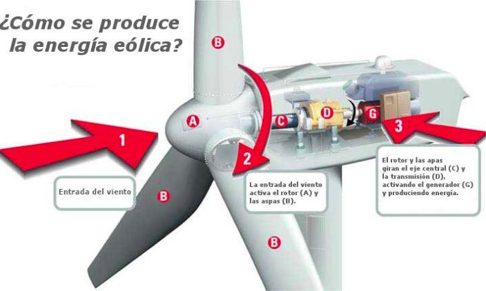 ¿Cómo funciona una turbina eólica?