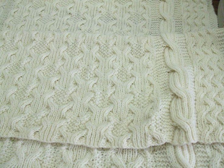 Reversible Cable Afghan Knitting Reversible Pinterest