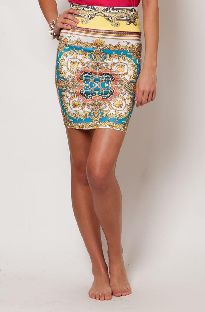 Versace Inspired High Waist Tube Skirt: Fashion Boutique, Style, Fashion Houses, Tube Skirt