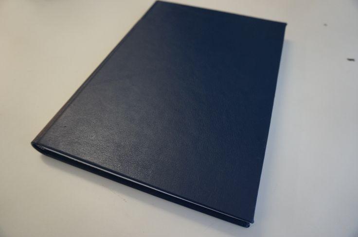 Blauwe lederen dummy boek a4 notitieboek blauw leer dummyboek leren harde kaft boeken leder kopen 166 pagina's -
