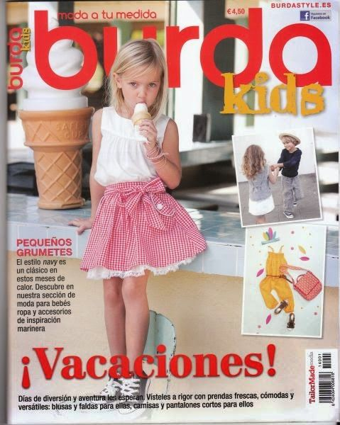 Anilegra moda para muñecas: Burda niños-verano -2014 -revista -patrones
