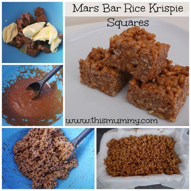 Chocolate Rice Krispie Cakes With Mars Bars