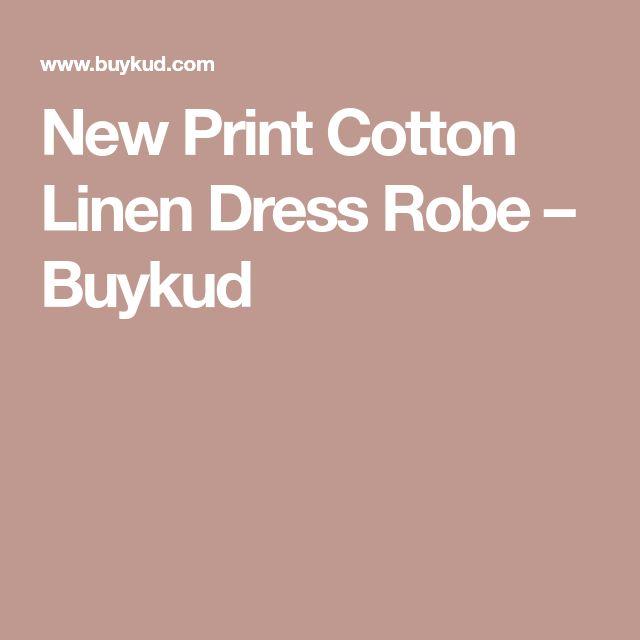 New Print Cotton Linen Dress Robe – Buykud
