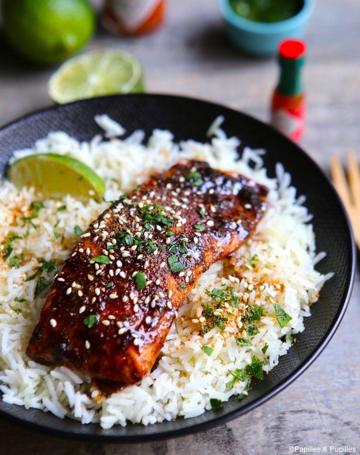 Saumon laqué aux saveurs asiatiques