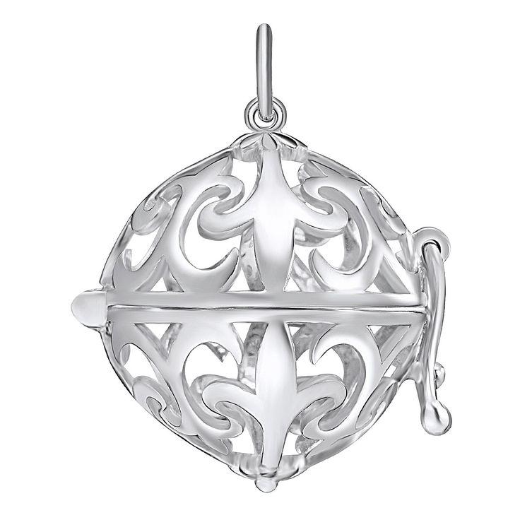 Pandantiv Nahla Jewels argint sfera dantelată Fleur de Lis