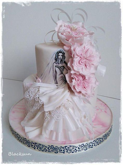 For A Dress Designer By Blacksun Bridal Shower Cakes In 2018