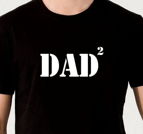 Funny 2 Times Dad Twice Daddy 2nd Time Father T-Shirt Gift Birthday Present Unisex Mens Tee Fun New Born Son Daughter Baby Announcement