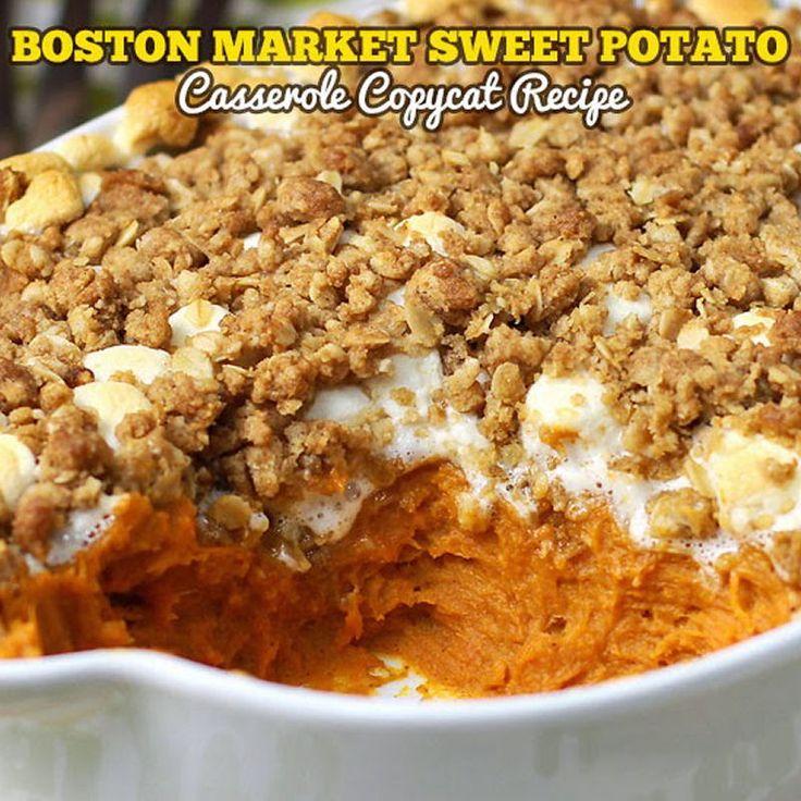 Sweet Potato Casserole Boston Market Copycat