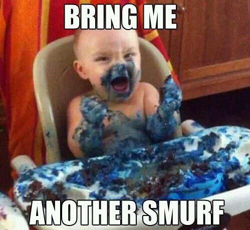 Imagem de funny, baby, and smurf