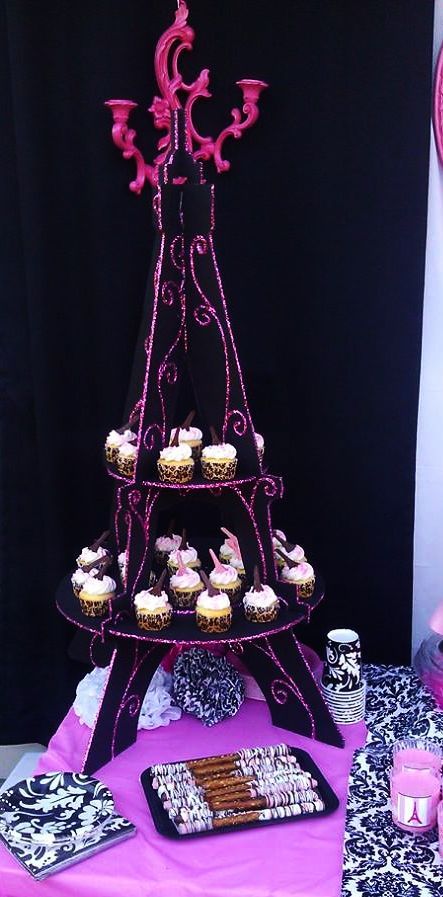 I made The Eiffel Tower Cupcake stand Paris, Eiffel Tower ...