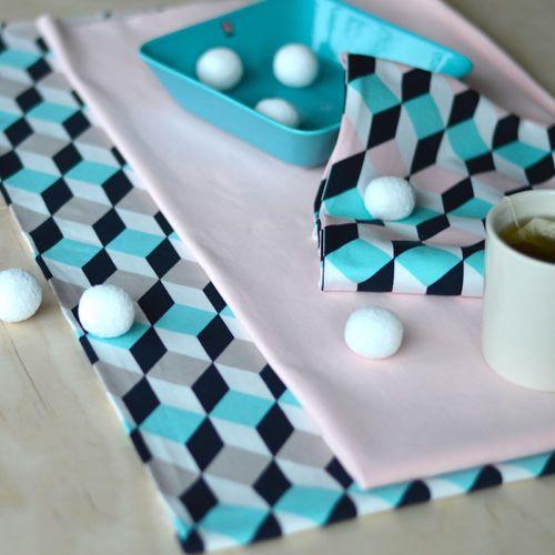 BOXI, Aqua | NOSH Fabrics Pre Spring 2016 Collection | Shop at en.nosh.fi | Kevään 2016 kausimalliston kankaat saatavilla nyt nosh.fi