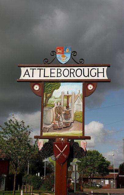 Attleborough, village sign