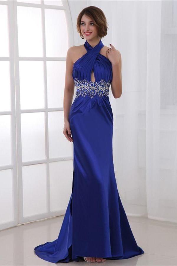 Soft Prom Dresses Blue, Open Back Prom Dresses, Cheap Prom Dresses ...