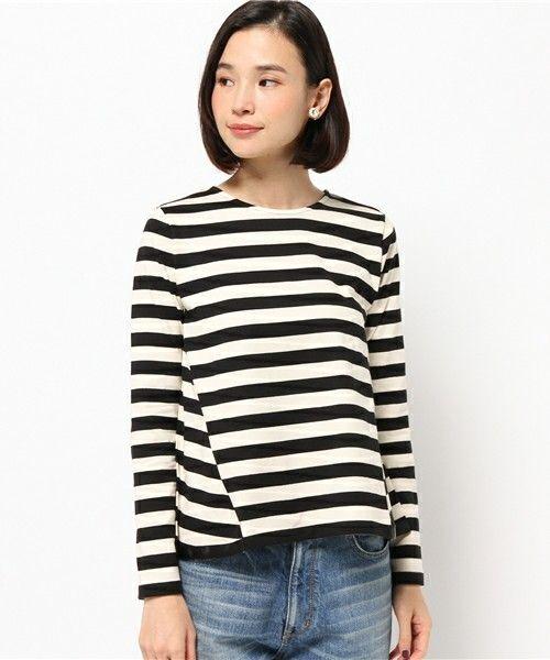 KOE(コエ)の「バックボリューム長袖ボーダーカットソー(Tシャツ・カットソー)」です。このアイテム着用のコーディネートをチェックすることもできます。
