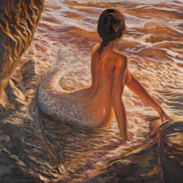 sirenas-bonitas-pinturas-realistas-al-oleo