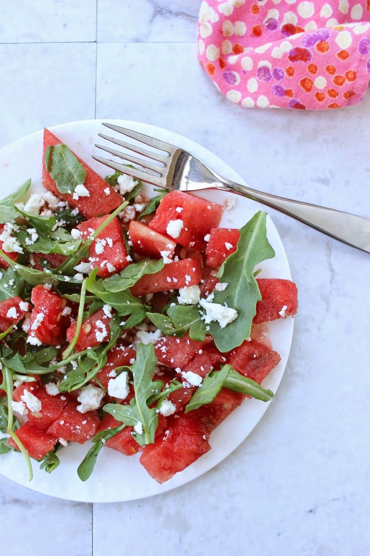 Stew or a Story: Watermelon Arugula Salad with Balsamic, Feta & Mint
