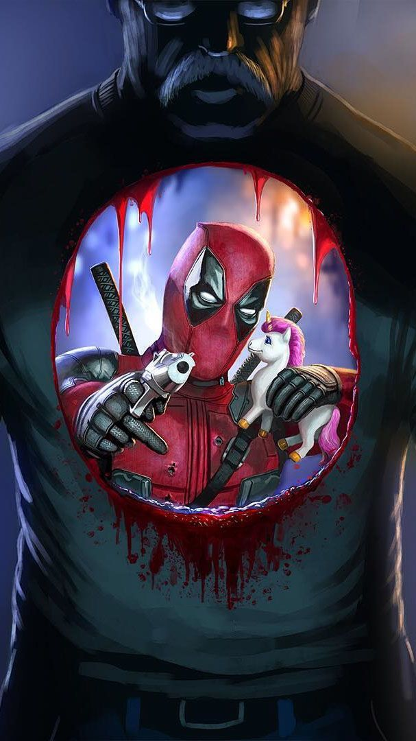 Download Deadpool And Unicorn Iphone Wallpaper Top Free Awesome