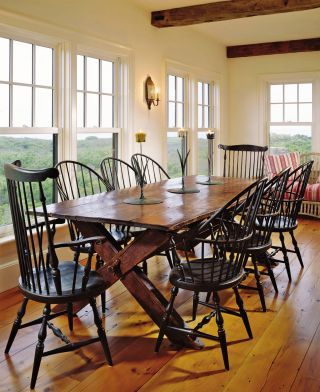 Rustic Dining Room by Karin Blake and Nantucket Architecture Group in Nantucket, Massachusetts