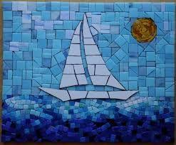 Resultado de imagem para mosaicos desenho de veleiro