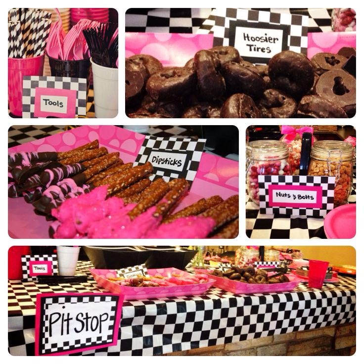Girly Race Car Birthday Party Food Completed Pinterest