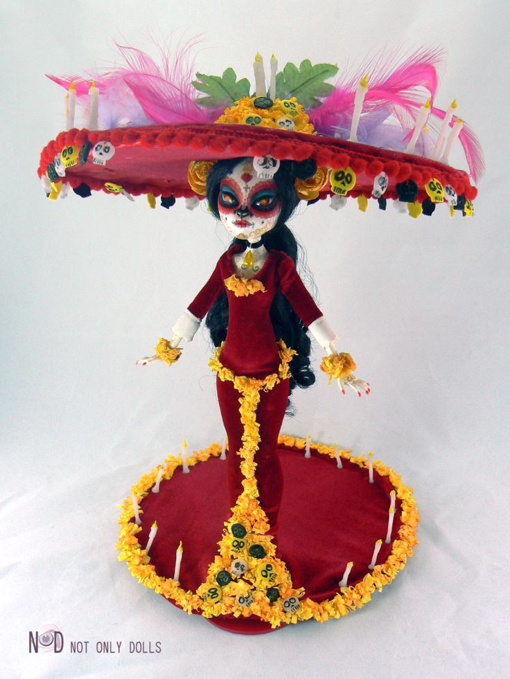 OOAK monster high doll fully customized as La Catrina, from The Book of Life movie, by Not Only Dolls #NoDcustomdoll