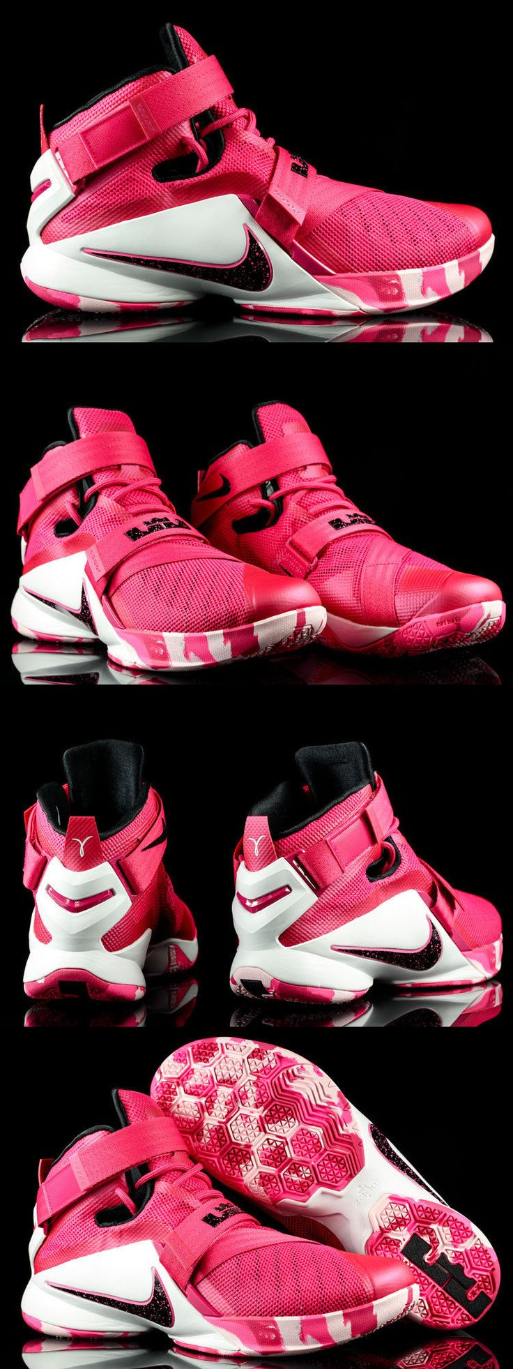 Basketball: Nike Lebron Soldier Ix Basketball Shoes Pink Cancer 749417-601 Mens Size 9.5 -> BUY IT NOW ONLY: $99.99 on eBay!