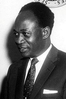 Portrait de Kwame Nkrumah lors de sa visite au président J. F. Kennedy, le 8 mars 1961. Premier ministre et Président de la république du Ghana (1909-1972)