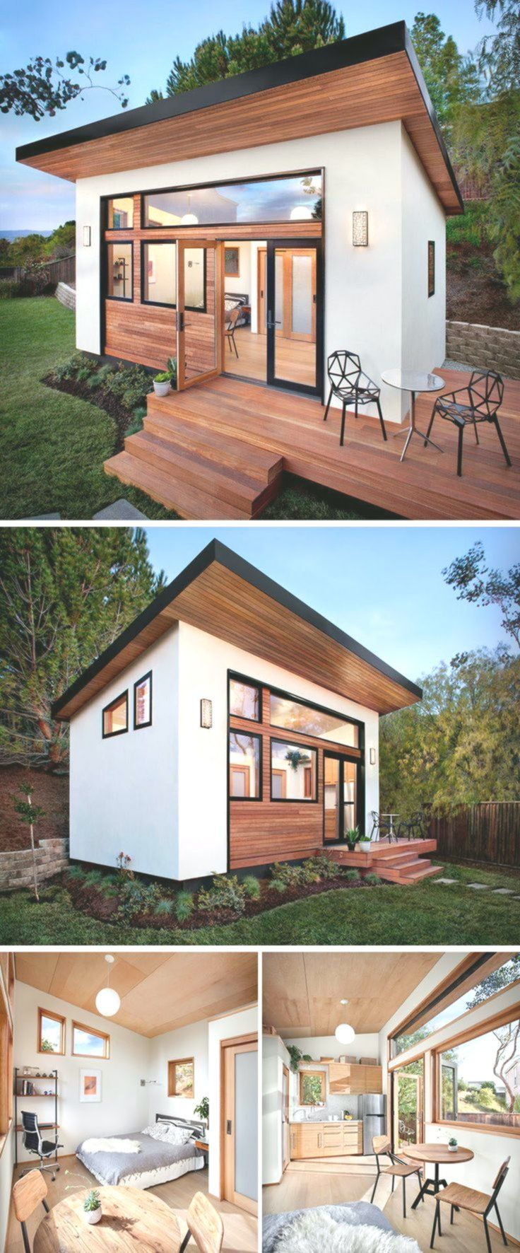 14 Inspirational Backyard Offices Studios And Gue Homedecor Backyard Office Guest House Small Backyard House Mini backyard guest house
