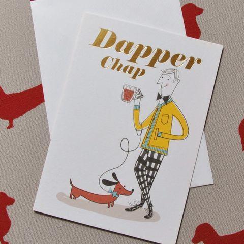Dachshund Sausage Dog Cards Dapper Chap